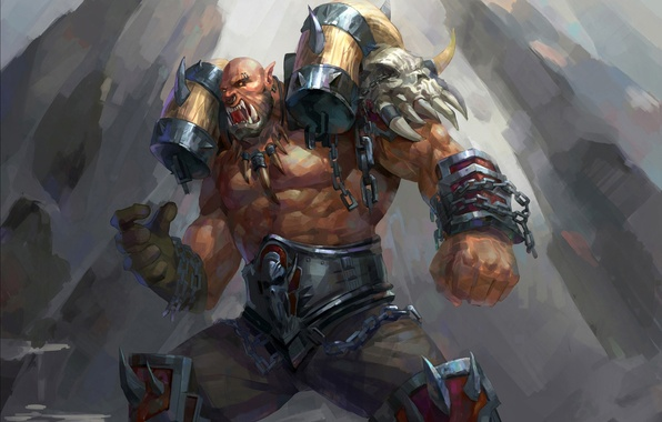 Anime Wallpaper For Ps Vita Wallpaper Warrior Art Orc Wow World Of Warcraft