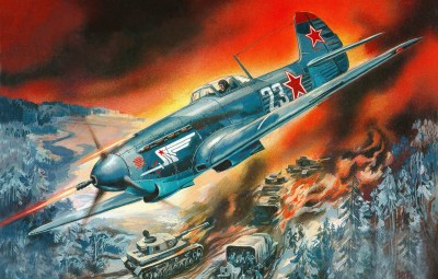 Wallpaper fighter, fighter, airstrike, Yakovlev, Soviet, single-engine, Russian, WW2., column ...