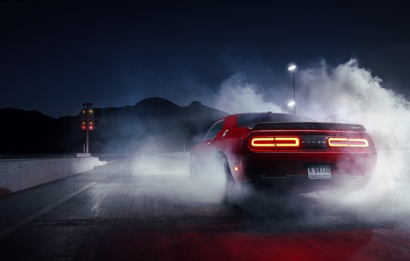 Car Wallpapers For Iphone 3gs Обои Muscle Dodge Challenger Red Car Smoke Hellcat