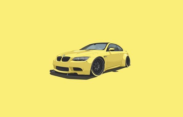 Goodfon Wallpaper Car Обои Bmw Car Yellow Minimalistic картинки на рабочий