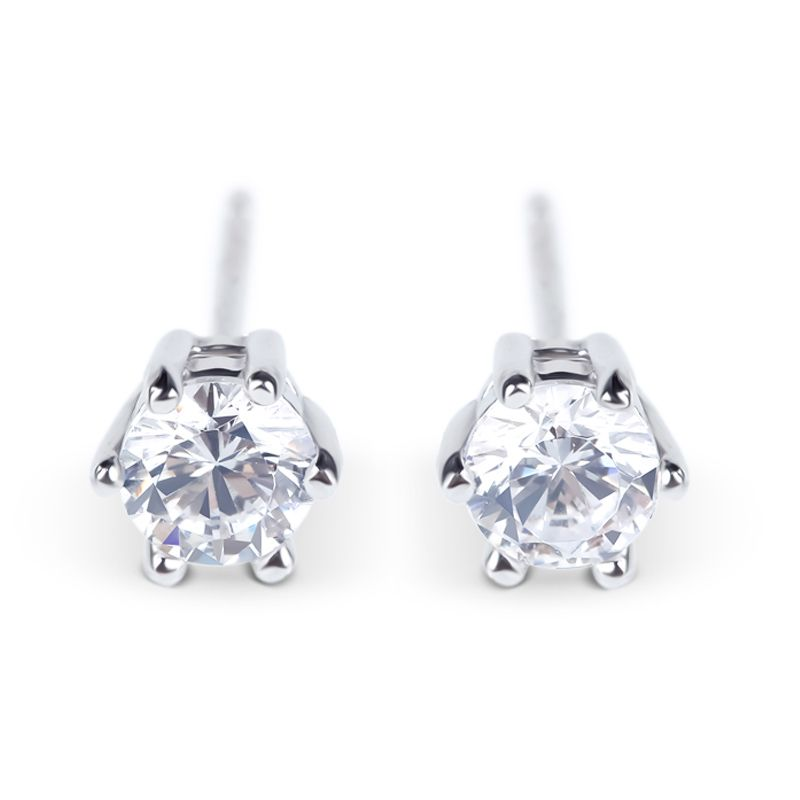 Simple Crown Sterling Silver Stud Earrings - Jeulia Jewelry