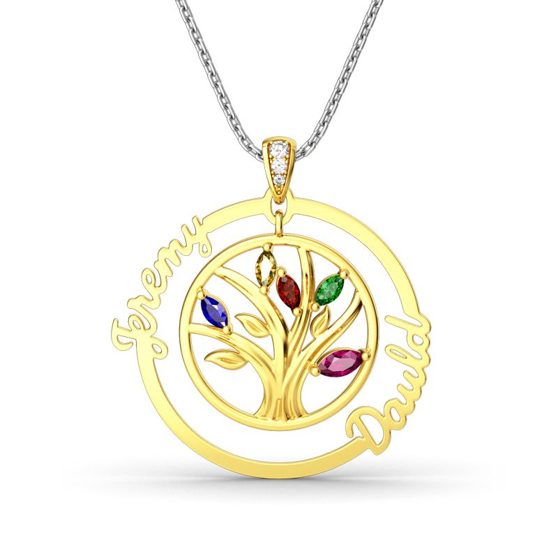 Tree Of Strength And Connection Pendant - Jeulia Jewelry
