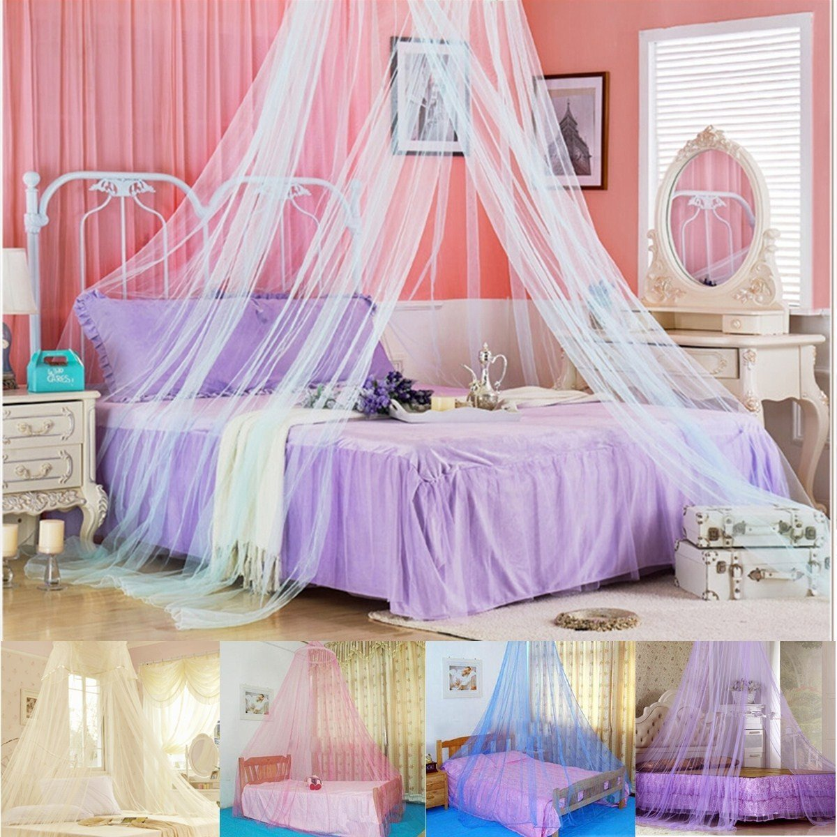 Bed Suspended From Ceiling Suspended Ceiling Lace Bed Netting Canopy Soft Dome