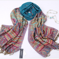 Bohemian Style Retro Scarf Winter Spring Long Cotton ...
