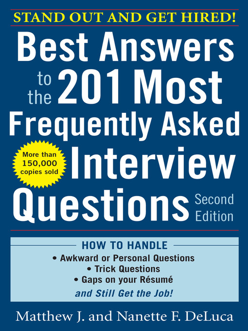 Best Answers to the 201 Most Frequently Asked Interview Questions - Best Interview Answers