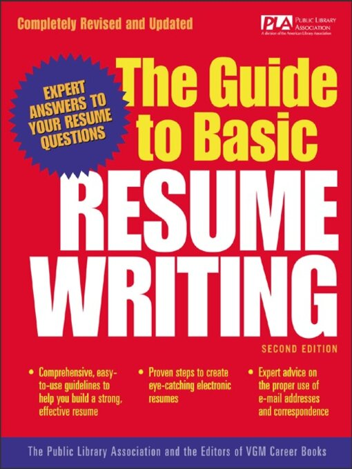 The Guide to Basic Resume Writing - Maryland\u0027s Digital Library