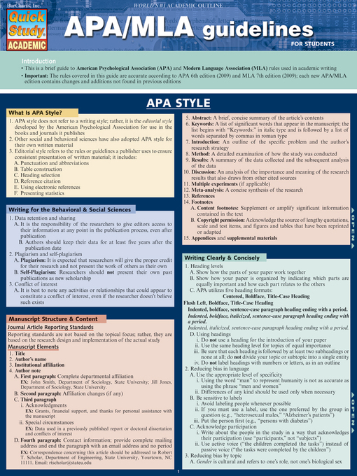 APA/MLA Guidelines - Los Angeles Public Library - OverDrive