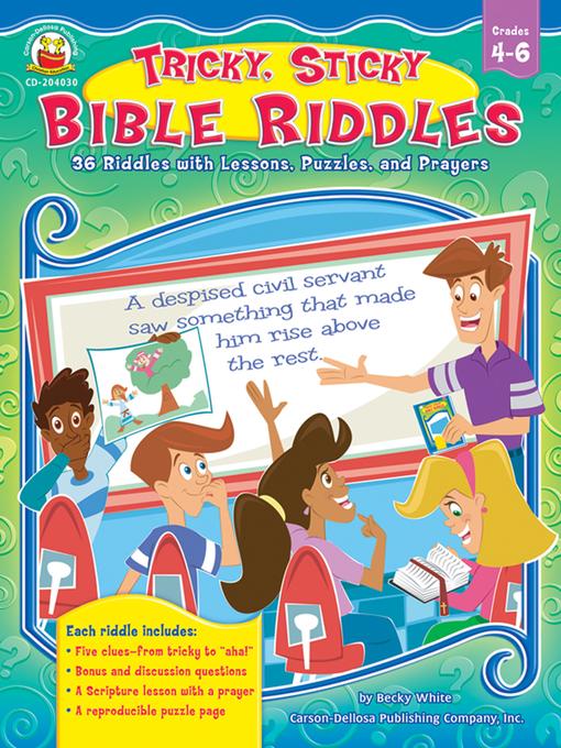Tricky, Sticky Bible Riddles - North Carolina Digital Library