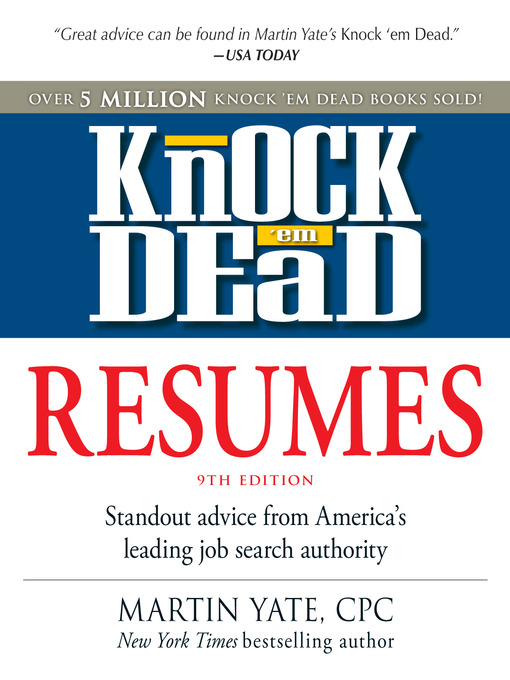 Knock \u0027em Dead Resumes - Navy General Library Program Downloadable - Knock Em Dead Resumes