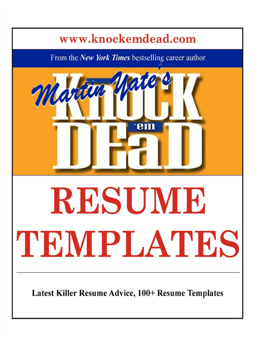 Knock Em Dead Resume Templates - National Library Board Singapore - Knock Em Dead Resumes
