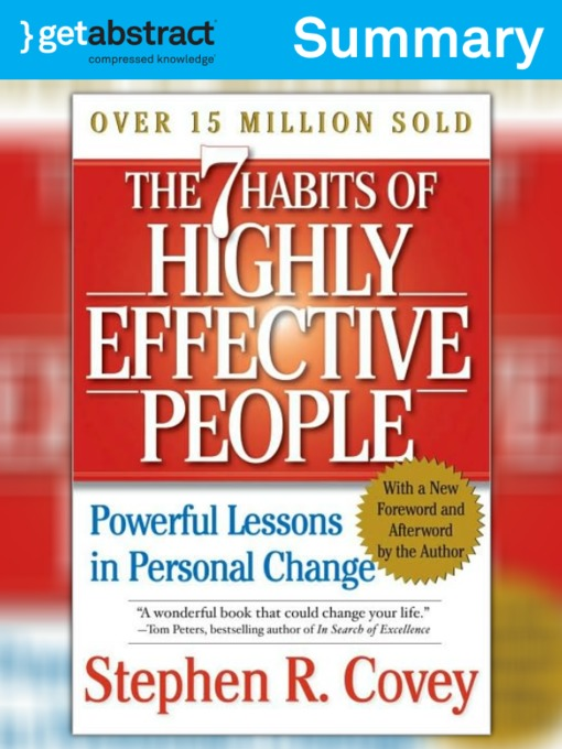The 7 Habits of Highly Effective People (Summary) - National Library - 7 habits of highly effective people summary