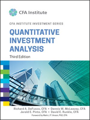 Quantitative Investment Analysis by Richard A DeFusco · OverDrive - investment analysis sample