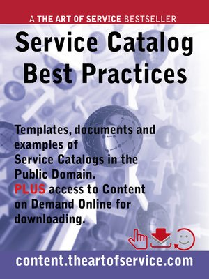 Service Catalog Best Practices - Templates, Documents and Examples