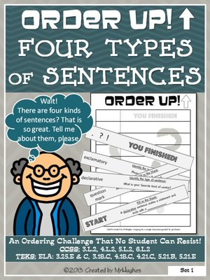 Order Up! Four Types of Sentences by Created by MrHughes · OverDrive
