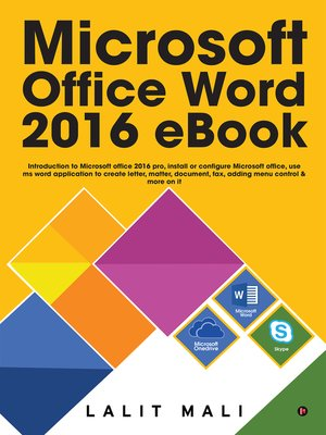 Microsoft Office Word 2016 eBook by Lalit Mali · OverDrive (Rakuten