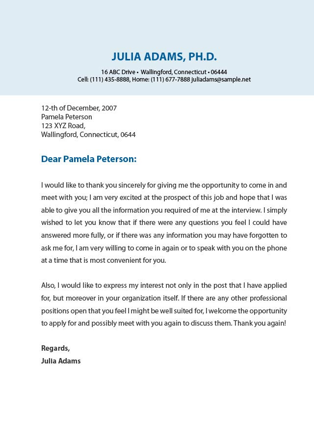Thank You Letter Sample Sample Thank You Letter After Phone - professional thank you letter sample