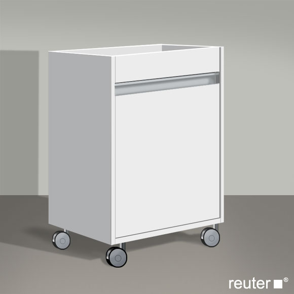 Rollcontainer Bad Duravit Ketho Rollcontainer Weiss Matt - Kt2530l1818