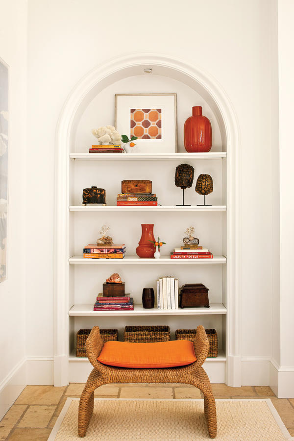 Decorating Bookshelves - Southern Living