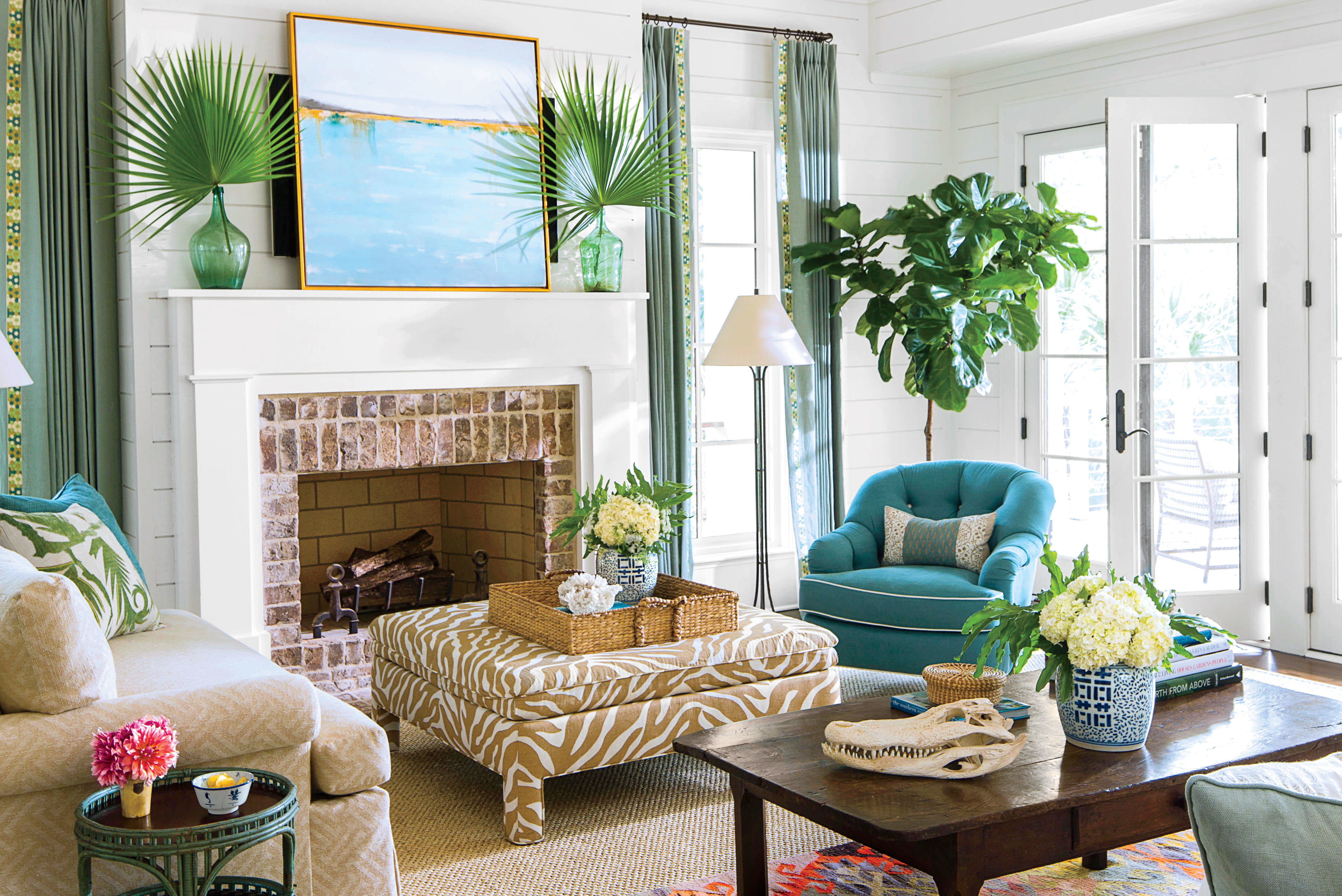 Living Room Vs Great Room Inviting Coastal Living Rooms