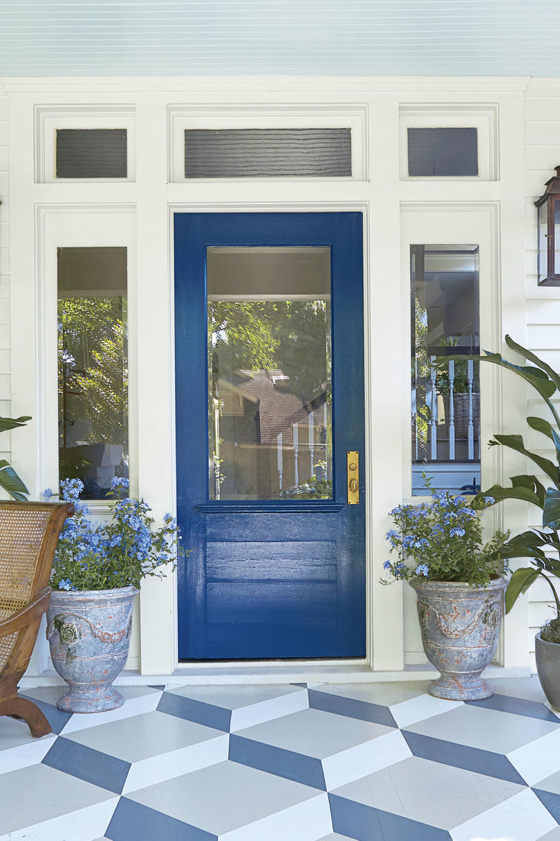 What Color Shutters Go With A Yellow House 19 Bold Front Door Colors - Southern Living