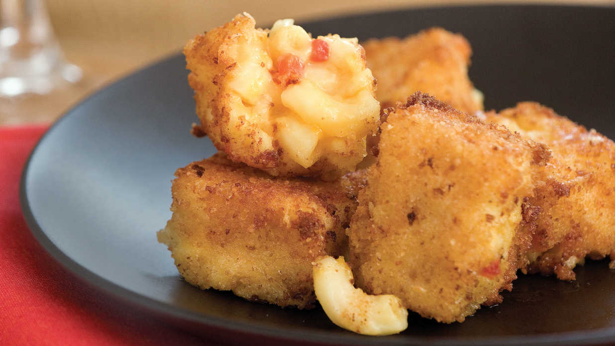 Macaroni-and-Pimiento Cheese Bites - 13 Ways with Pimiento Cheese - Southern Living