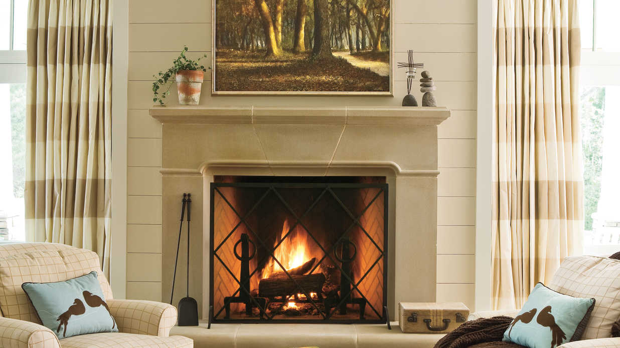 Brick Fireplace Wood Mantel Dress Your Mantel For Winter