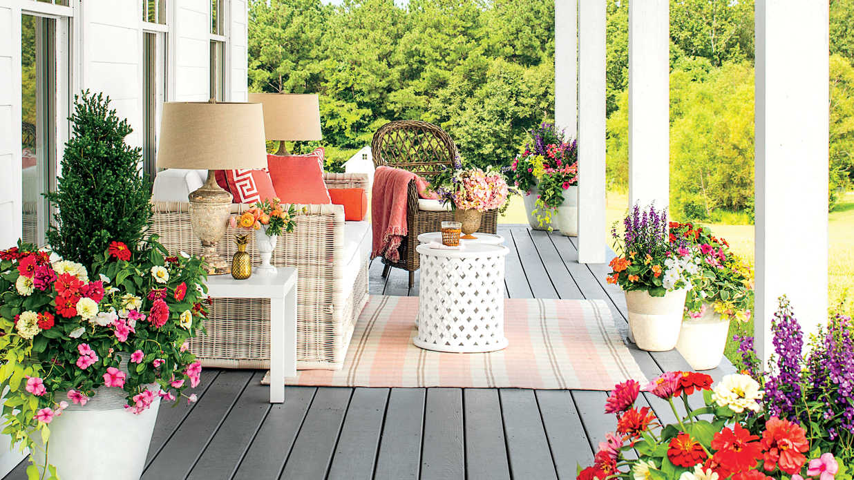 Milk Decoration Pinterest Spring Porch Decorating Ideas - Southern Living