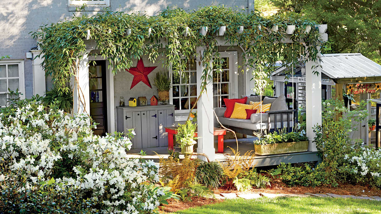 Soothing After Yard Makeovers That Will Make Your Jaw Drop Sournliving Before After Yard Makeovers That Will Make Your Jaw Drop Landscaping On Back Yard Landscaping Backyard Before A Mobile Home outdoor Landscaping The Back Yard