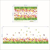 Removable Wall Stickers Tulip Flowers and Butterflies ...