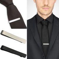 Vintage Metal Silver Black Gold Tone Simple Necktie Tie ...