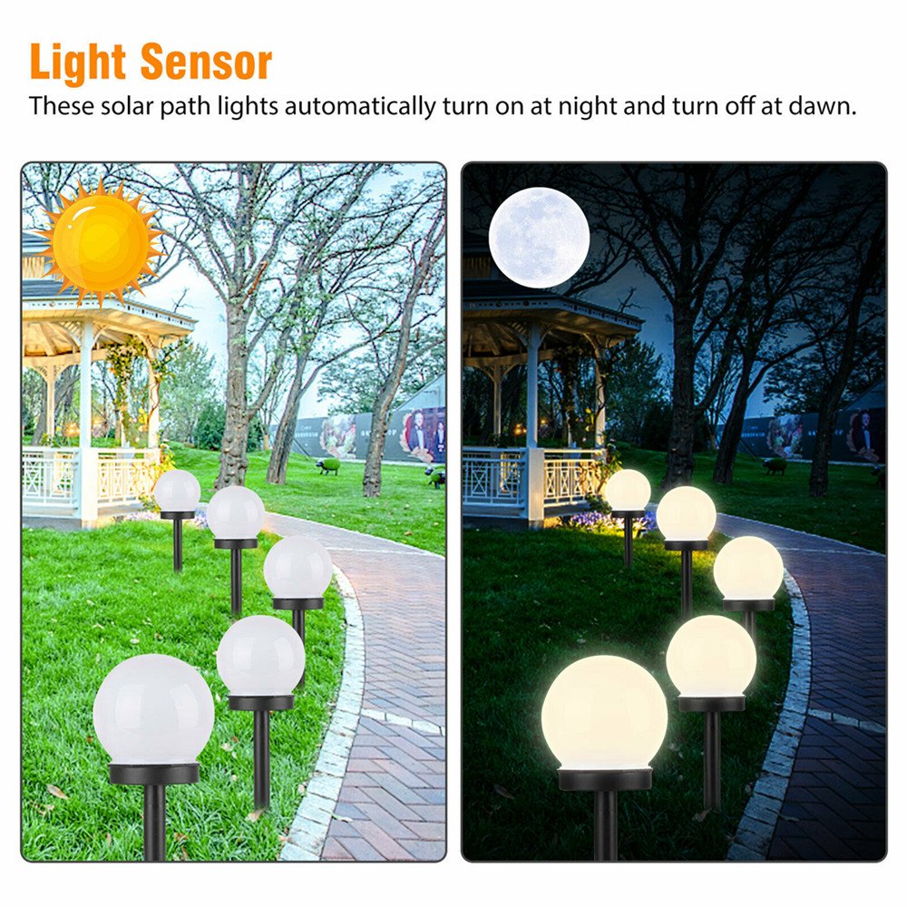 2 4 8 Pcs Flowerbed Solar Ground Ball Lights Led Path Patio Garden Decking Lamp Ebay