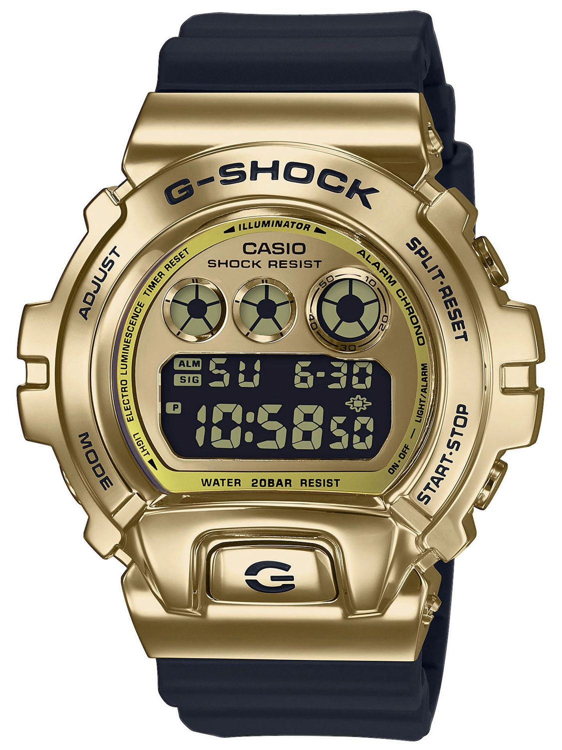 Casio Gm 6900g 9er G Shock Classic Digital Herrenuhr Gold Schwarz