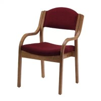 Wood Stack Chair with Arms | Wayfair