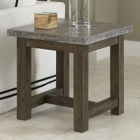 Home Styles Concrete Chic End Table & Reviews | Wayfair