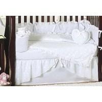 Sweet Jojo Designs Eyelet White 9 Piece Crib Bedding Set ...