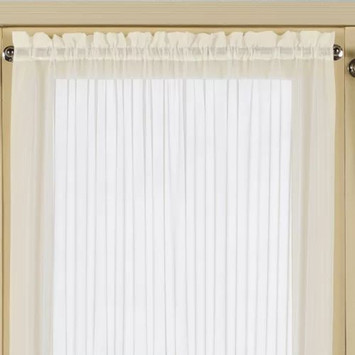 United curtain co batiste half rod pocket door curtain
