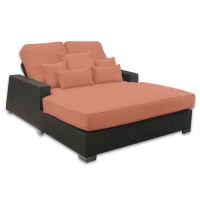 Patio Heaven Signature Double Chaise Lounge with Cushion ...
