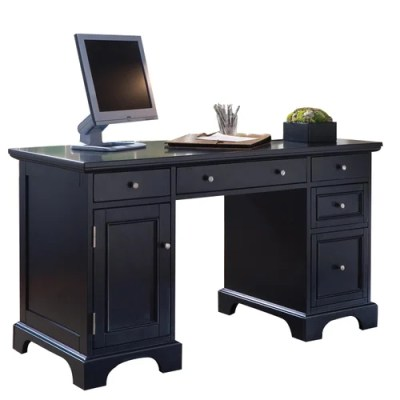 Home Styles Bedford Double Pedestal Computer Desk ...