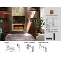 """Dynasty 35"""" Built-in LED Electric Fireplace & Reviews ..."""