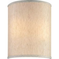 """Volume Lighting 9"""" Linen Drum Wall Sconce Shade & Reviews ..."""