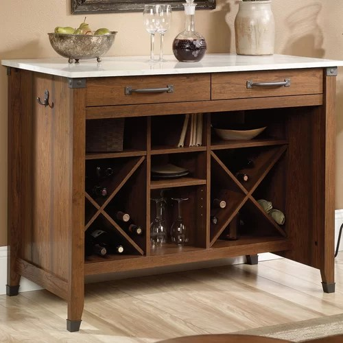 sauder carson forge kitchen island faux marble top reviews special sauder kitchen furniture danutabois