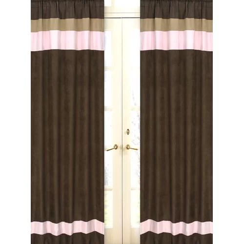 Vorhang Rosa Braun Sweet Jojo Designs Pink And Brown Toile Cotton Curtain