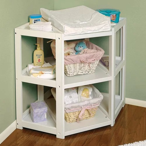 Baby Wickeltisch Badger Basket Diaper Corner Baby Changing Table & Reviews