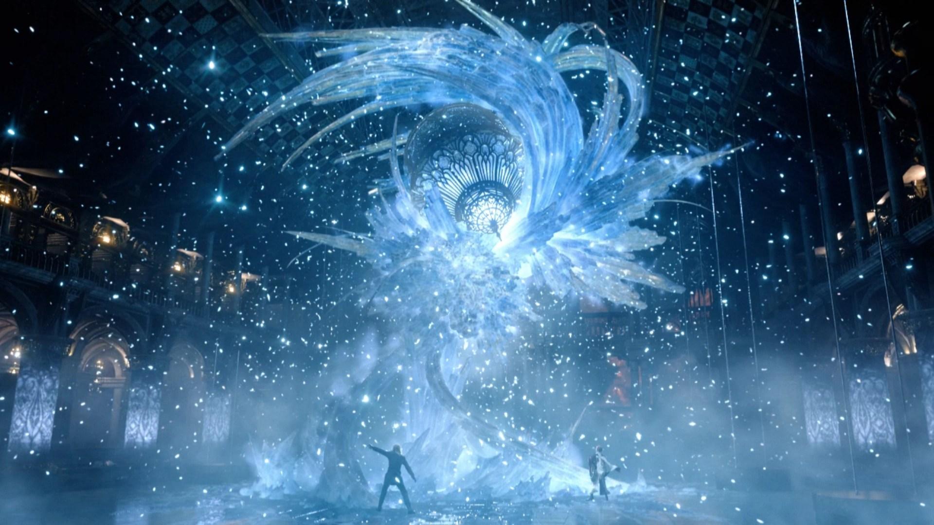 Wallpaper Engine Girl Falling Music Crystal Pillar Final Fantasy Xiii The Final Fantasy