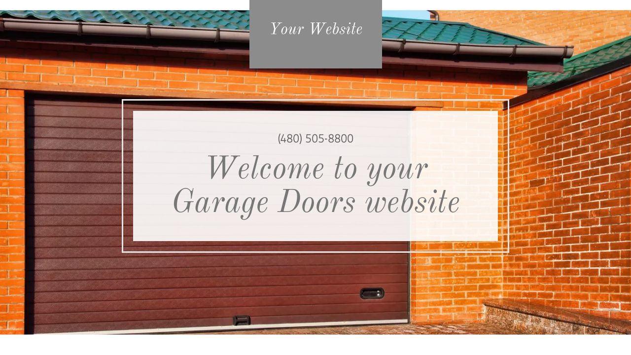 Garage Design Template Garage Doors Website Templates Godaddy