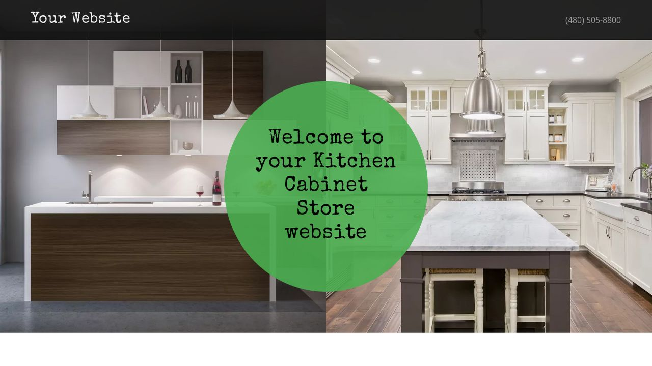 Example 8 Kitchen Cabinet Store Website Template Godaddy