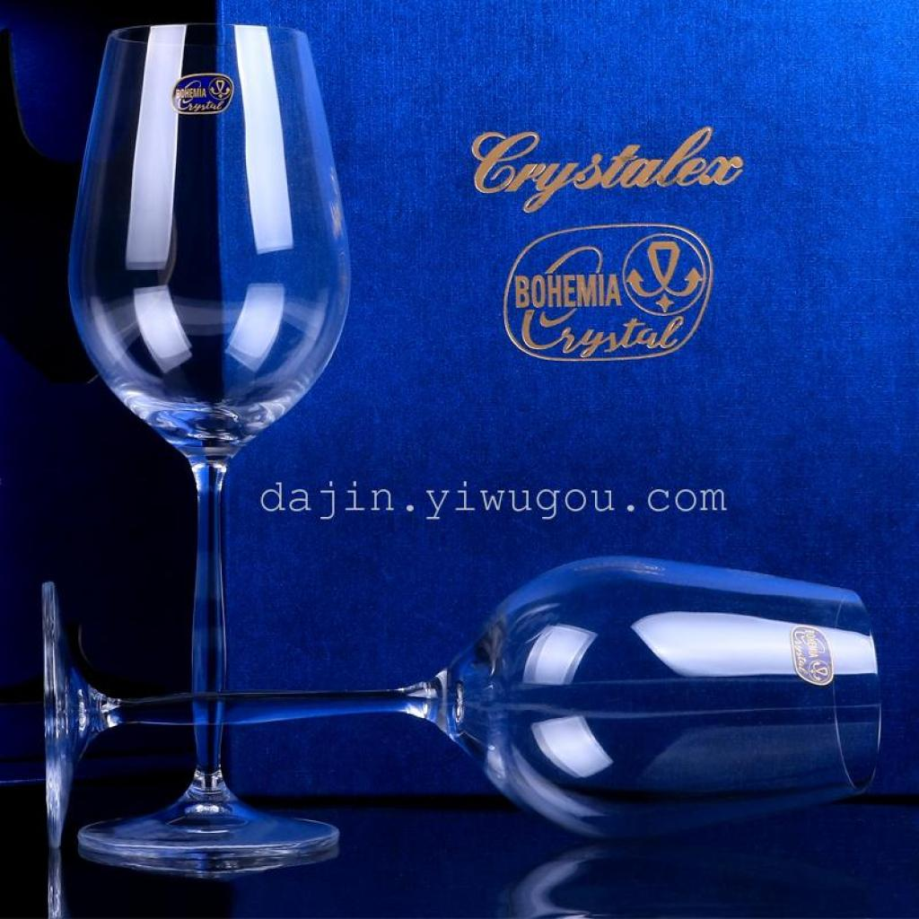High End Crystal Wine Glasses Supply Bohemia Legs Xindi Red Wine 450 Ml Cup Of High End Gift Box