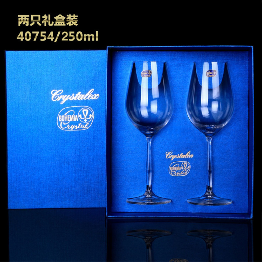 High End Crystal Wine Glasses Supply Bohemia Legs Xindi Red Wine 250 Ml Cup Of High End Gift Box