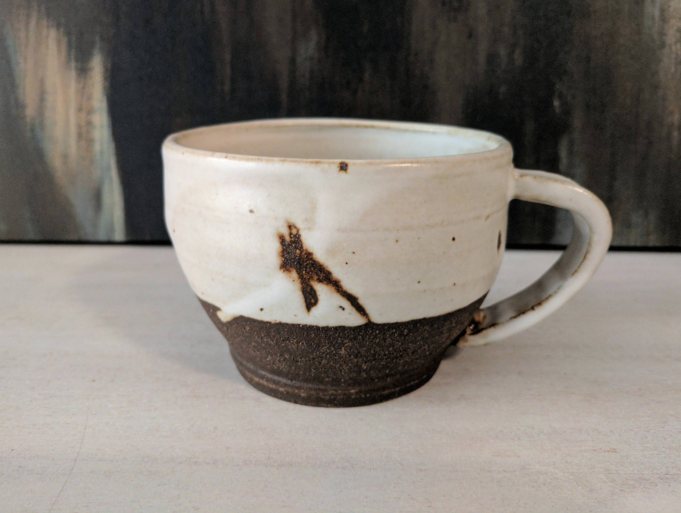White Ceramic Coffee Cups White Mug Ceramic Coffee Mug Handmade Rustic Pottery Mug