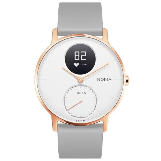 Shop Nokia (NOKIA) Steel HR Smart Watch Metal Surface Intelligent